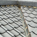 屋根漆喰補修前